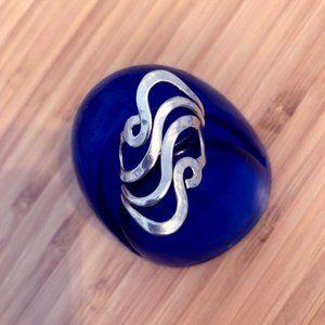 Sterling Silver Wave Ring, Adjustable